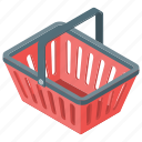 cart, ecommerce, grocery bucket, shopping cart, supermarket bucket icon