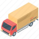 cargo service, delivery service, delivery van, online shopping, package delivery icon