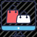 bag, buy, commerce, e, online, online shopping, shopping