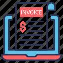bill, document, invoice, money, payment, receipt, shopping