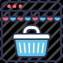 commerce, online, online shop, online store, shop, store, web icon