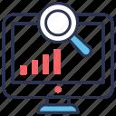 keyword, keyword search, market, marketing, monitoring, search, seo icon