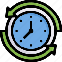 hour, clock, online shopping, time duration icon