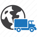 delivery, global, international, shipping icon