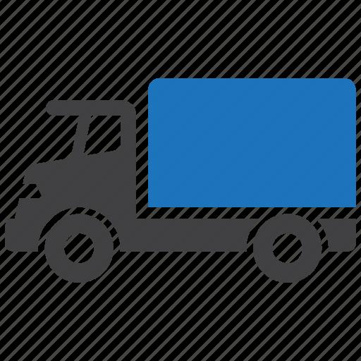 logistics, lorry, transportation, truck, vehicle icon