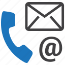 call, communication, contact, mail, phone icon