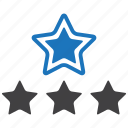 favorite, rate, rating, stars icon