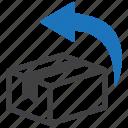 box, logistics, package, return icon