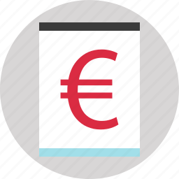 blog, euro, money, page, sign, website icon