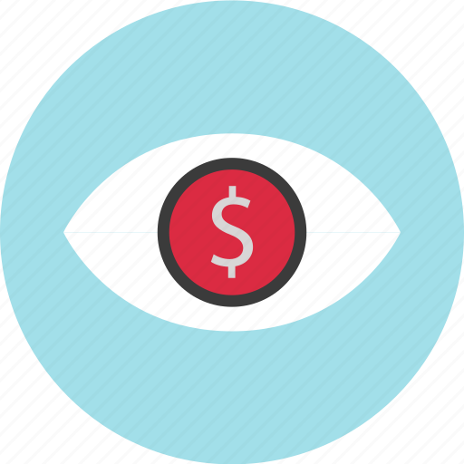 dollar, eye, find, look, online icon