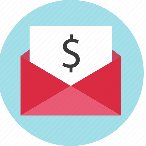 email, envelope, money, online icon