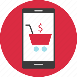 cart, mobile, online, shopping icon