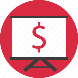 board, dollar, online, shopping, sign icon