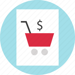 cart, online, page, shopping icon