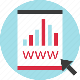 arrow, online, results, shopping, website, with icon