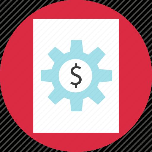 gear, money, online, page, web icon