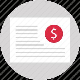 description, money, page, web icon