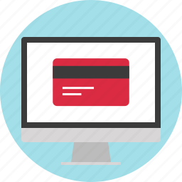 card, credit, screen, website icon