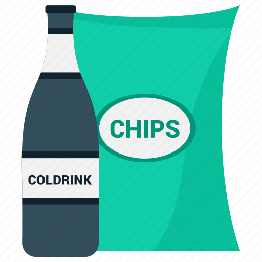 chips, cold drink, pepsi icon