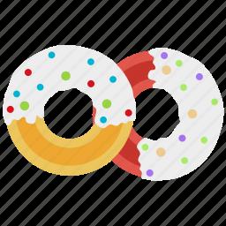breakfast, bun, dessert, donut, food, kitchen icon
