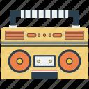 boombox, music, radio