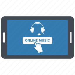 mobile, music, online music, online song, songs icon