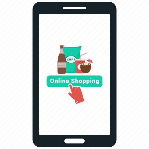 Ecommerce mobile shopping online shopping icon icon for Shopping online mobili