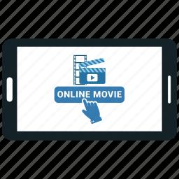 film, media, mobile, movie, online movie, playe icon
