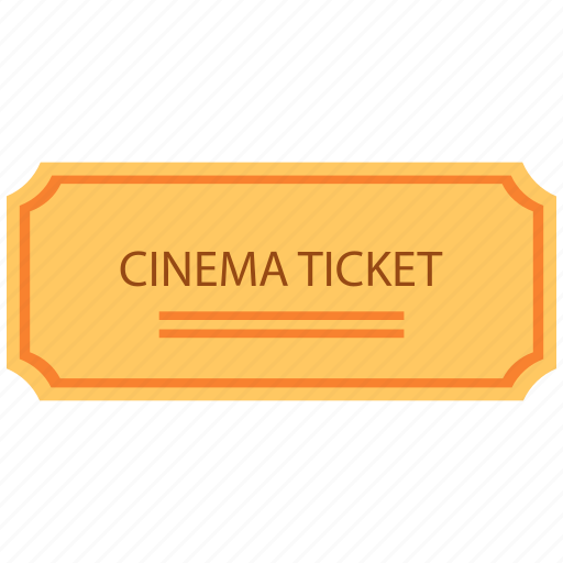 cinema, movie, ticket icon