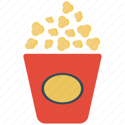 movie, pop corn, popcorn icon