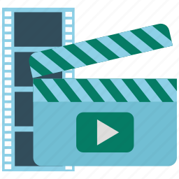 cinema, clapper, film, media, movie, video icon