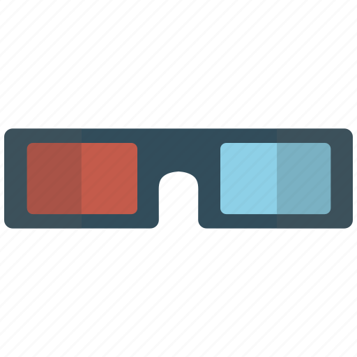 3d, 3d glasses, glasses, movie icon