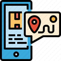 delivery, gps, location, package, post, shipping, tracking icon