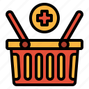 add, basket, commerce, shopping, supermarket icon