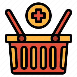 add, basket, commerce, shopping, supermarket icon