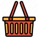 basket, commerce, shopping, supermarket icon