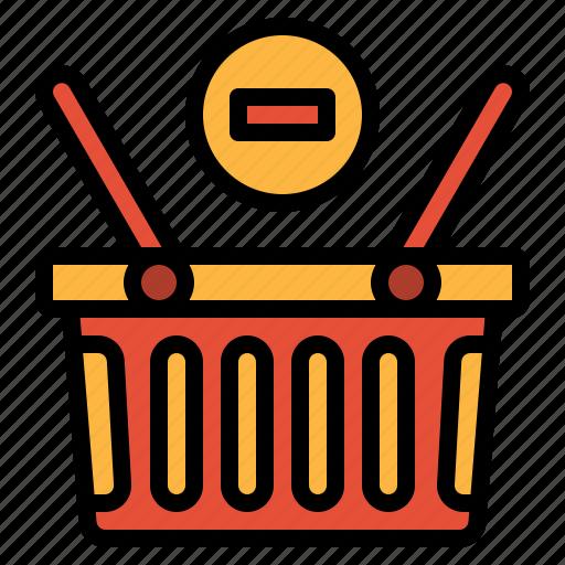basket, commerce, remove, shopping, supermarket icon