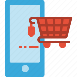 mobile, online, phone, retail, shopping, smart icon