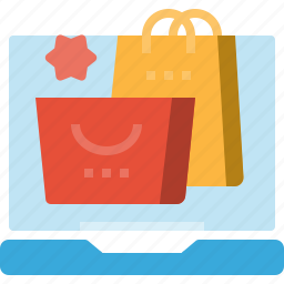bag, commerce, laptop, online, shopping, store icon
