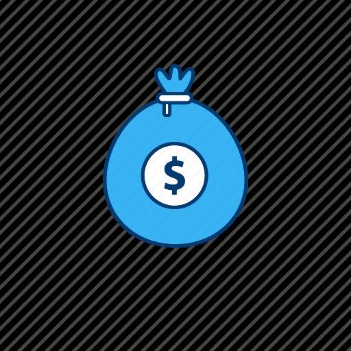 cash, dollar, money, money bag, wealth icon