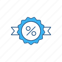 abatement, discount, rebate, reduction icon
