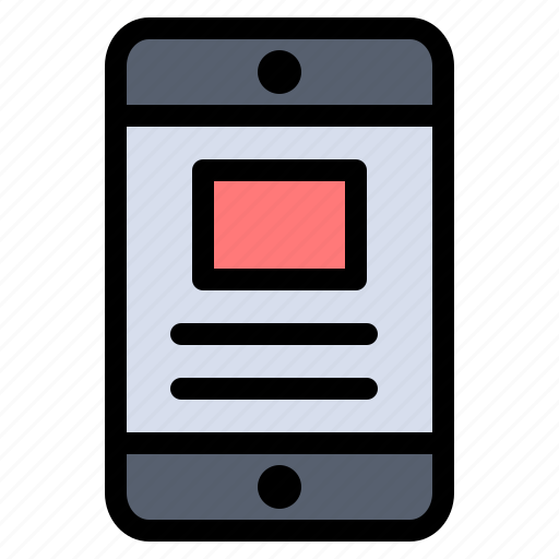 business, mobile, online, text icon