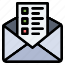 business, chat, mail icon