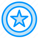business, coin, star icon