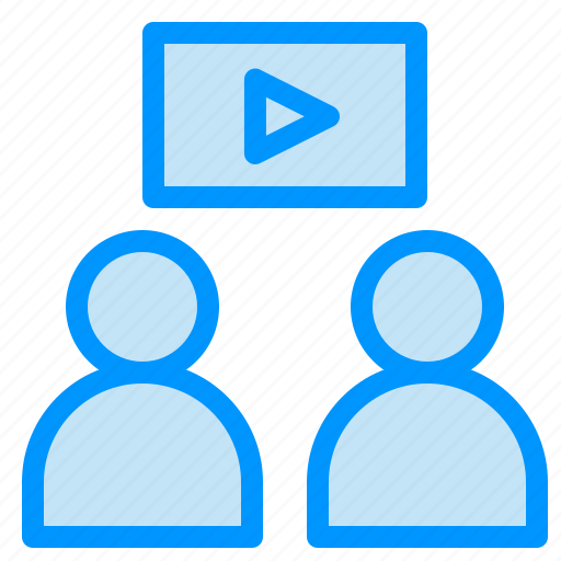 man, video, watch icon