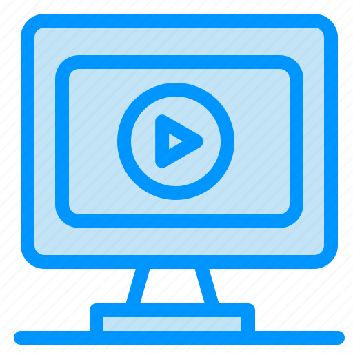 monitor, play, video icon