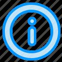 info, information, menu icon