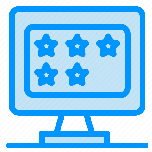 business, monitor, rate, star icon