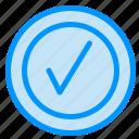 checked, good, tick icon