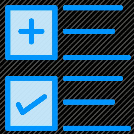 business, plus, text, tick icon